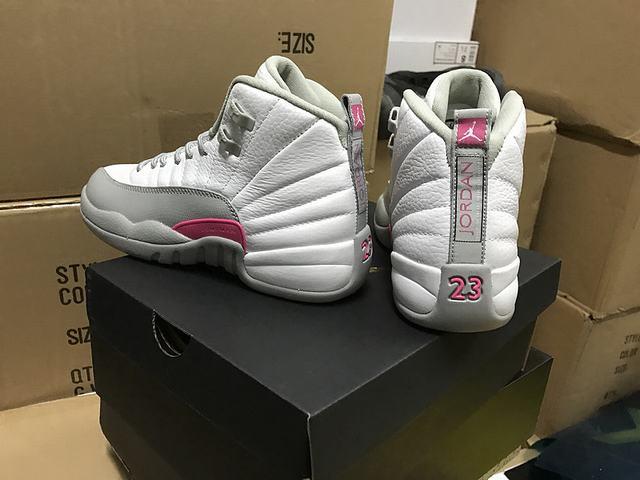 """Authentic Air Jordan 12 GS """"Vivid Pink"""""""