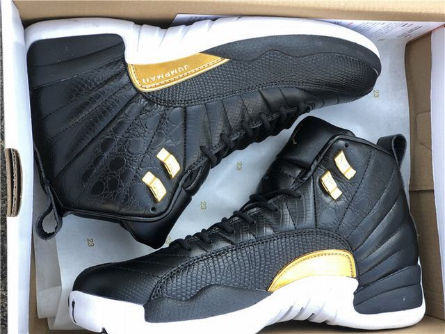 Authentic Air Jordan 12 Midnight Black