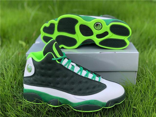 Authentic Air Jordan 13 Oregon Green