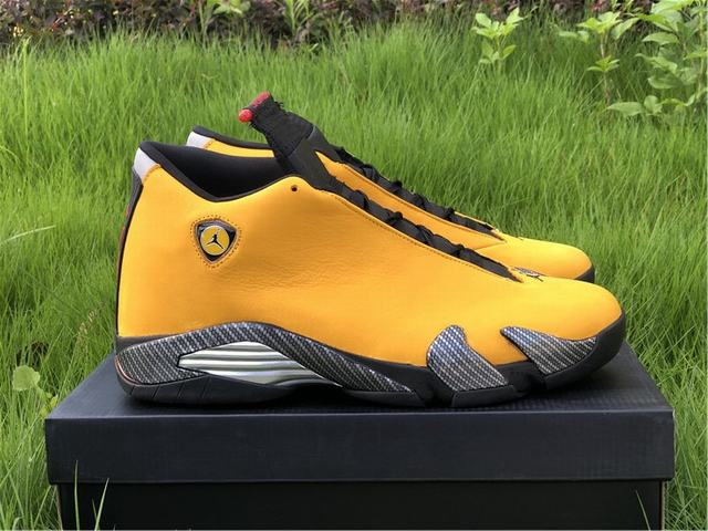 "Authentic Air Jordan 14 ""Ferrari"" Yellow"