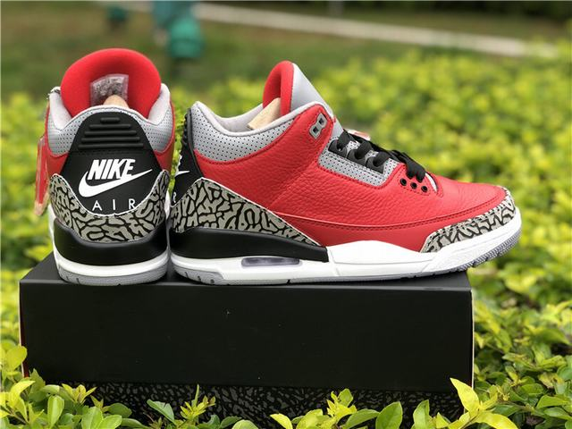 "Authentic Air Jordan 3  ""Red Cement"""