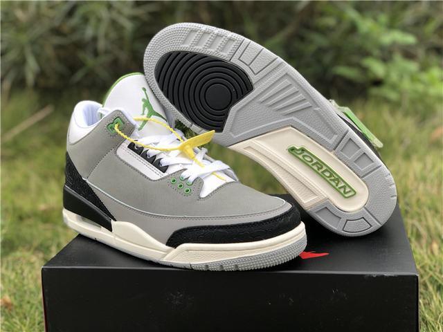 "Authentic Air Jordan 3 ""Chlorophyll"""