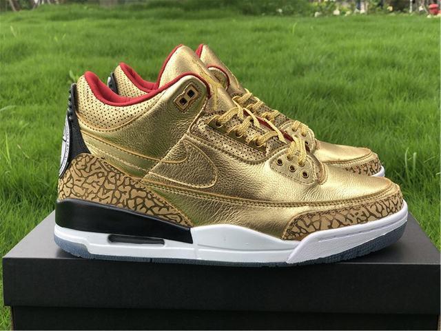 Authentic Air Jordan 3 GOLD