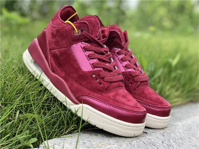 "Authentic Air Jordan 3 WMNS ""Bordeaux""GS"