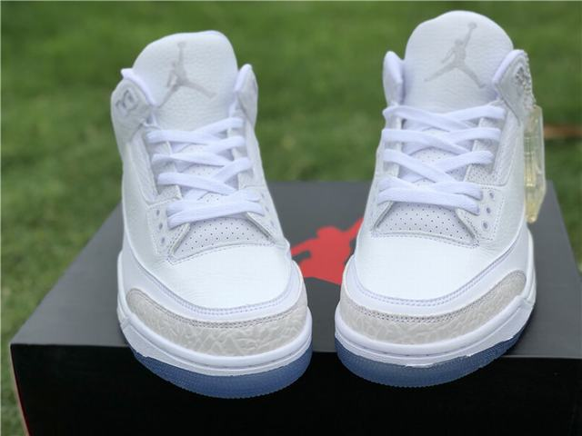 Authentic Air Jordan 3 White Cat