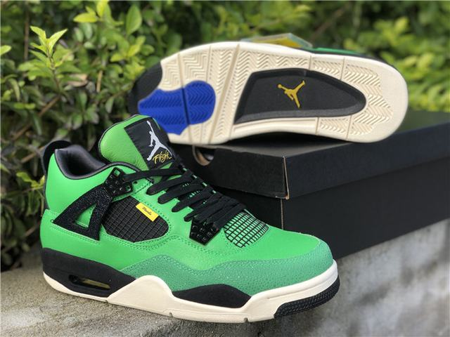 "Authentic Air Jordan 4 ""Manila"""