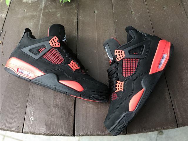 "Authentic Air Jordan 4 ""Red Thunder"""