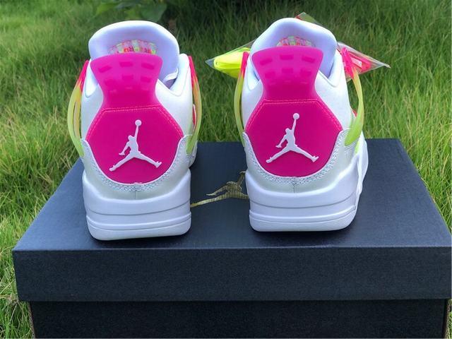 "Authentic Air Jordan 4 GS ""Lemon Venom"""