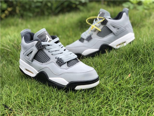 Authentic Air Jordan 4 Grey