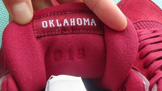 Authentic Air Jordan 4 PE Oklahoma Sooners