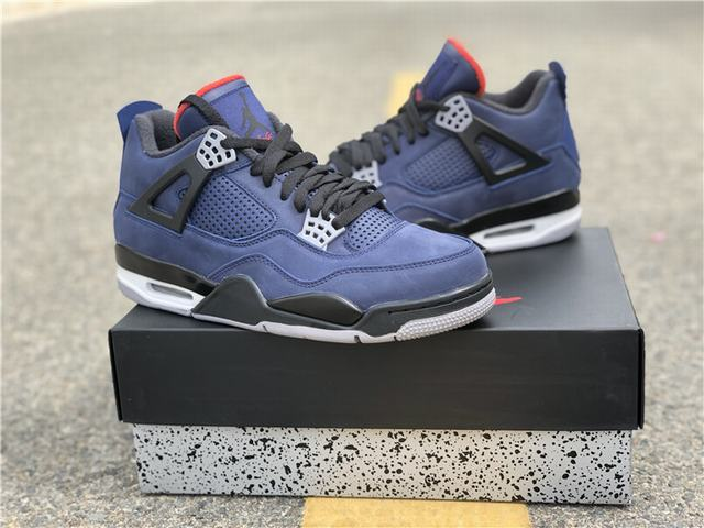 Authentic Air Jordan 4 Winter Loyal Blue