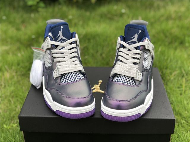 "Authentic Air Jordan 4""Monsoon Blue"""