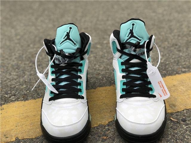 "Authentic Air Jordan 5 ""Island Green"""