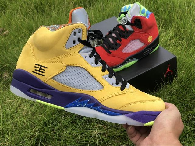 "Authentic Air Jordan 5 ""What The"""