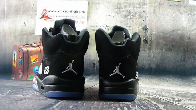 Authentic Air Jordan 5 Black&Metallic Silver
