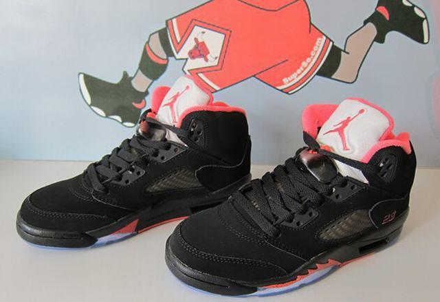 Authentic Air Jordan 5 Black Alarming GS