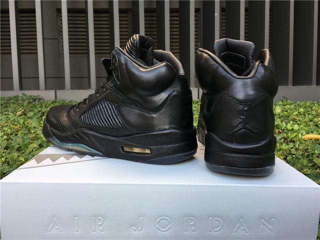 "Authentic Air Jordan 5 Premium Pinnacle ""Black"""