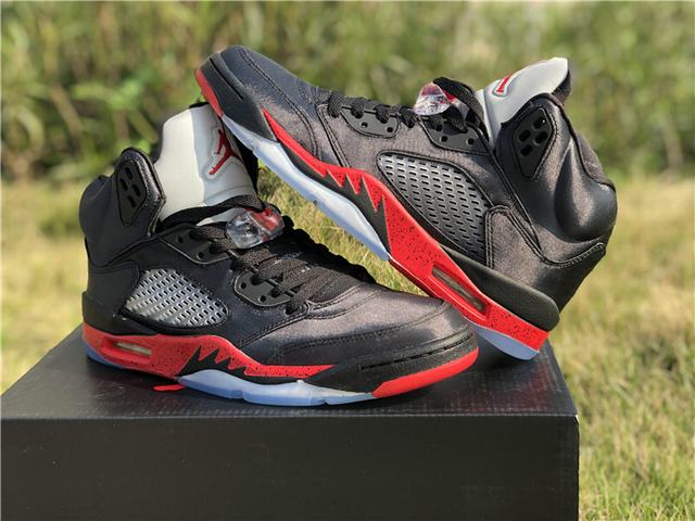 Authentic Air Jordan 5 Satin Bred