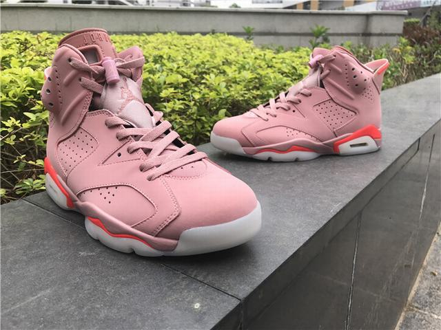 "Authentic Air Jordan 6 "" Millennial Pink """
