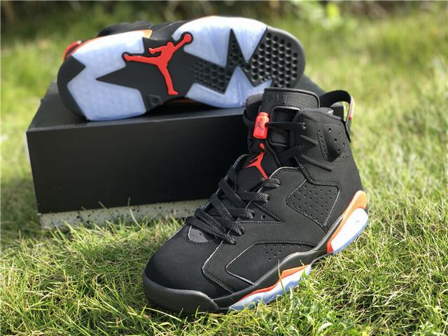 "Authentic Air Jordan 6 ""Black Infrared"" Nike Logo"