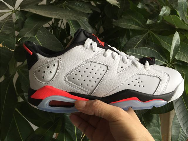 "Authentic Air Jordan 6 Low ""White Infrared"" GS"