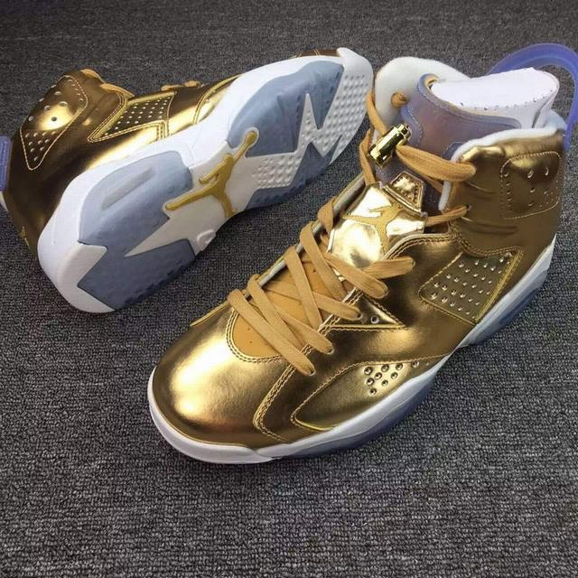 Authentic Air Jordan 6 Spike lee Gold