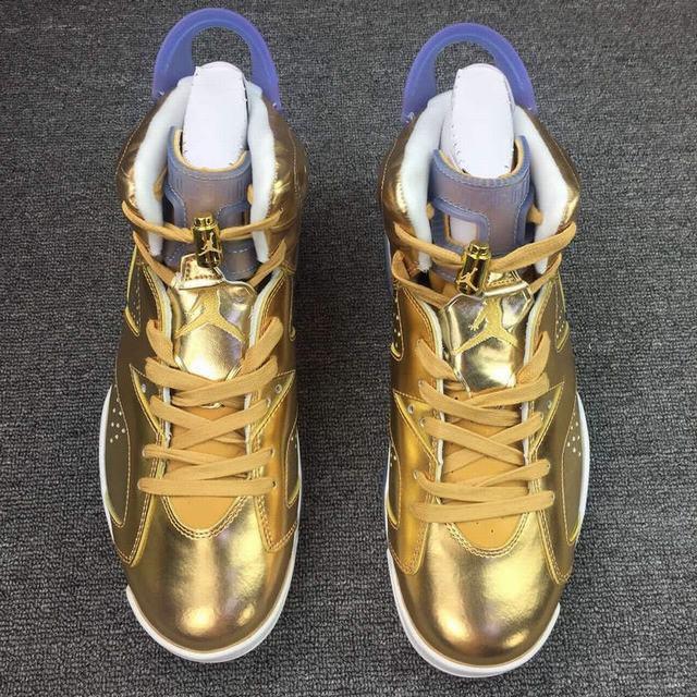 Authentic Air Jordan 6 Spike lee Gold