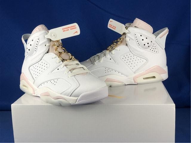 "Authentic Air Jordan 6 WMNS ""Gold Hoops"""