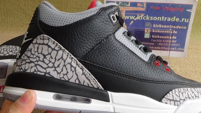 Authentic Air Jordan Retro 3 OG Black Cement GS