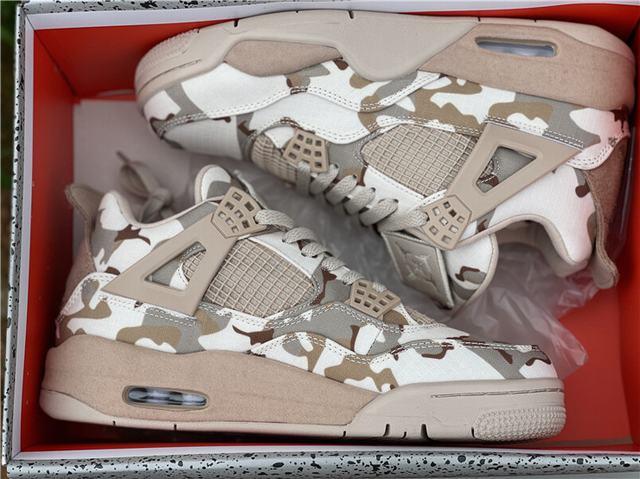 "Authentic Aleali May x Air Jordan 4 ""Camo"""