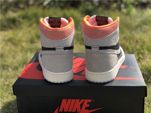 Authentic Cspace Air Jordan 1 OG High Grey Pink