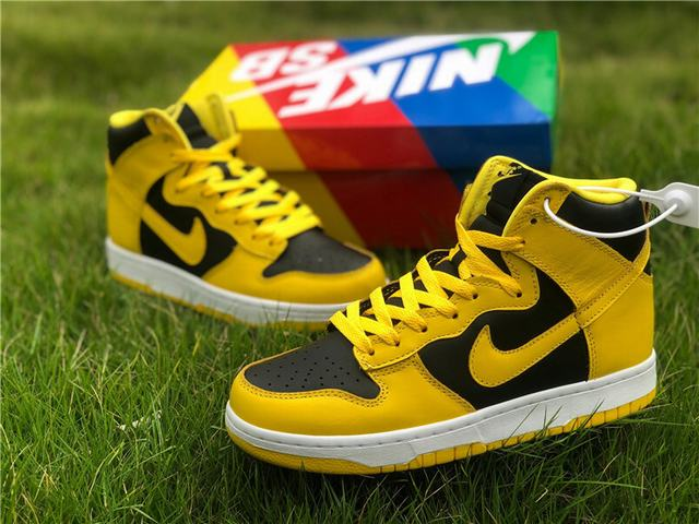 Authentic Nike Dunk High SP Yellow