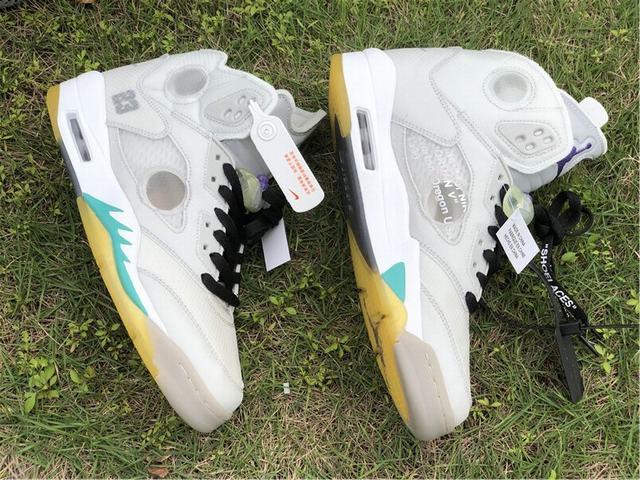 Authentic OFF-WHITE x Air Jordan 5 White
