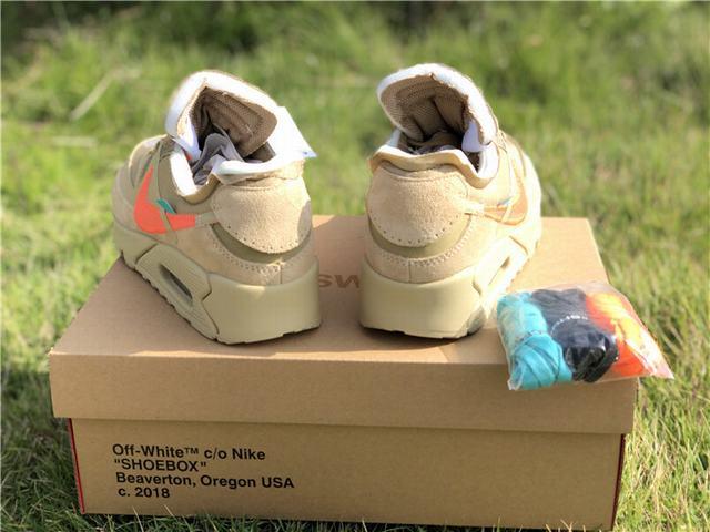 "Authentic OFF-WHITE x Nike Air Max 90 ""Desert Ore"""