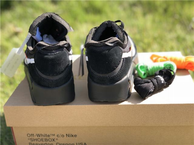 Authentic OFF-WHITE x Nike Air Max 90 Black