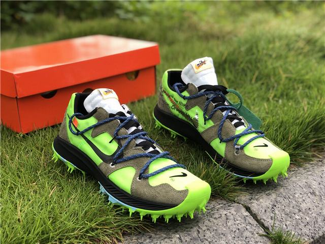 Authentic OFF-WHITE x Nike Zoom Terra Kiger 5 Green