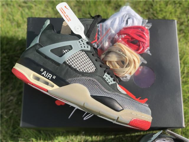 Authentic Off White x Air Jordan 4 Black