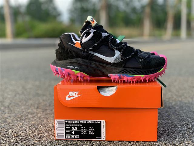 Authentic Off-White x Nike Zoom Terra Kiger 5 black