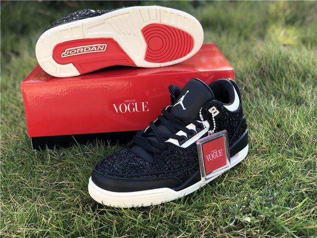 """Authentic Vogue x Air Jordan 3 """"AWOK"""" Black"""