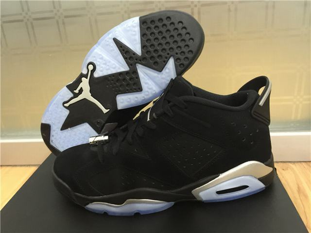Authetic Air Jordan 6 Low Chrome